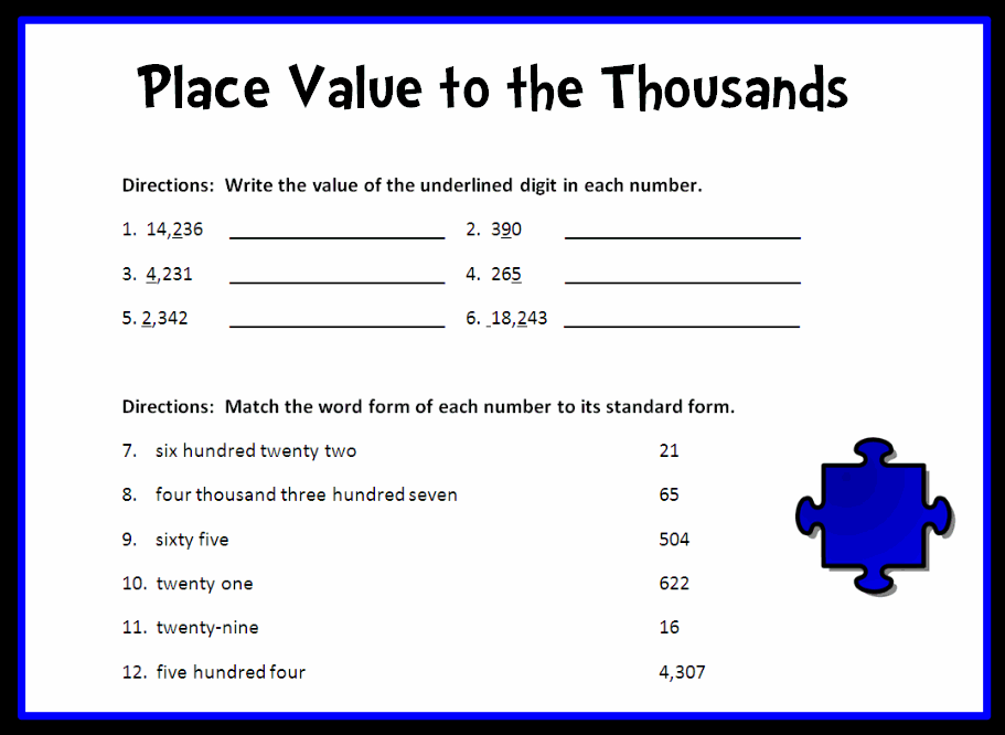 Worksheet Place Value Worksheets 4th Grade Printable 5th grade math problems place value delwfg com word for understand place
